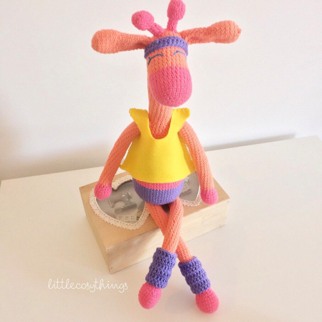 Crochet Amigurumi Legs Together : Let s get physical.. Aerobics Giraffe! Amigurumi Giraffe ...