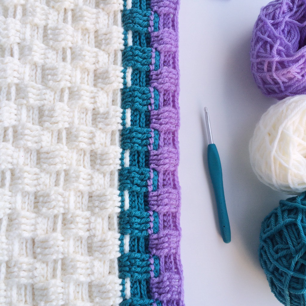 How To Make A Basket Weave Crochet Stitch : Work in progress the basket weave crochet stitch
