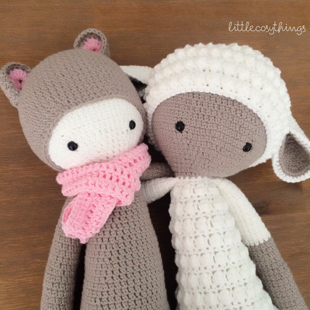 Kira the Kangaroo & Lupo the Lamb by Little Cosy Things