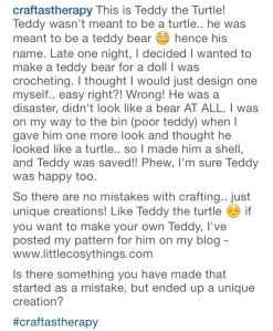 Story of Teddy the Turtle - Little Cosy Things