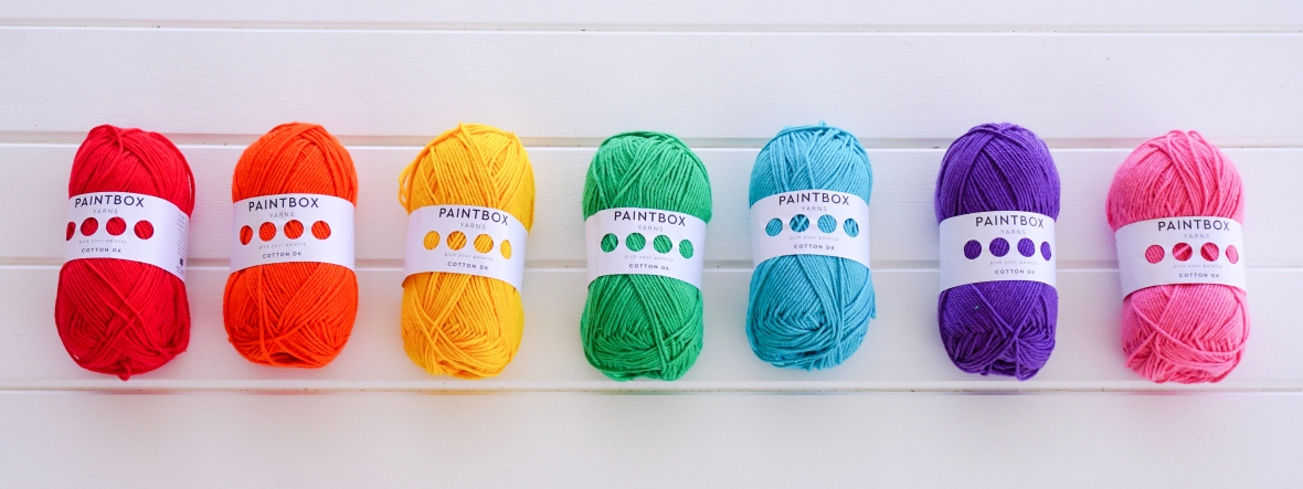 rainbow paintbox cotton yarns by Little Cosy Things @littlecosythings