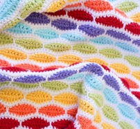Bertie Blanket rainbow crochet by Little Cosy Things @littlecosythings