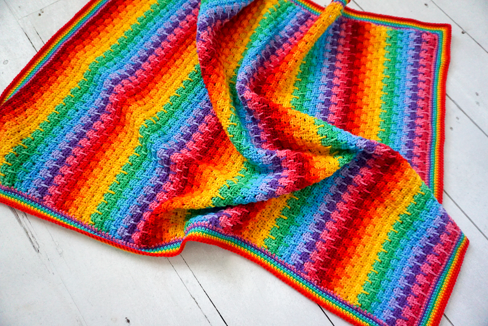 """Weeping Rainbows"" Crochet Blanket Pattern by Little Cosy Things"