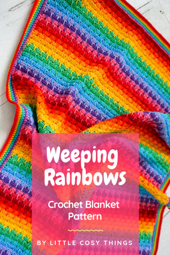 """Weeping Rainbows"" Crochet Pattern by Little Cosy Things"
