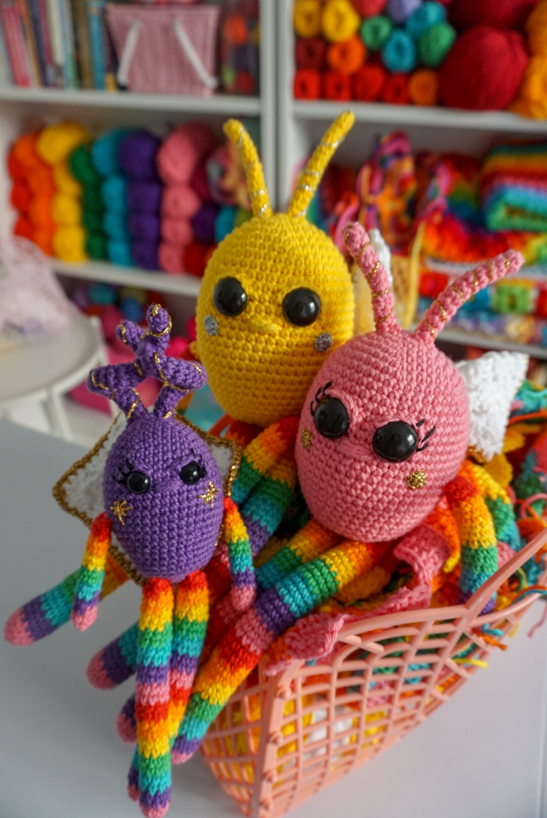 Amigurumi Pattern:  Rainbow Snuggle Bugs, by Little Cosy Things